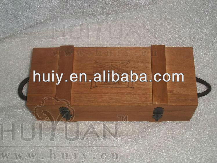 wholesale elegant decorative wooden CD case with hinged lid