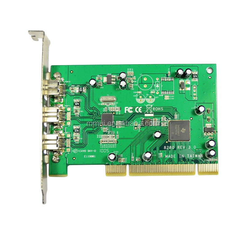 IOCREST 3-port 1394B PCI card,TI8280 chipset