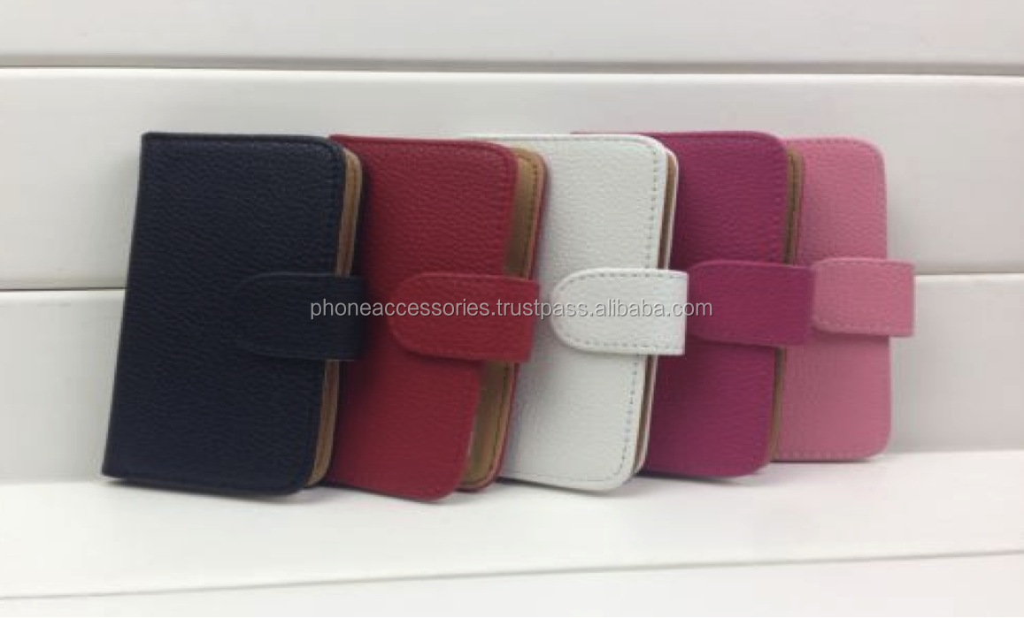Colorful Leather Wallet for Nokia case for iPhone 6, iPhone 5 and iPhone 4 and for Samsung S5 and Note 3