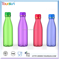 Hot Item Health customized logo Fashionable plastic sport water bottle for travel
