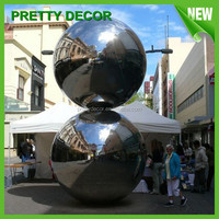 Large Hollow Steel Balls for Outdoor Decoration as Sculpture