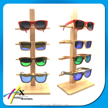 modern wooden bamboo eyeglasses watch jewelry display rack stand with simple design