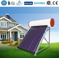 Zhe jiang Hai ning High pressure solar water heater with heat pipe for home