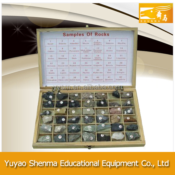 Educational equipment wholesale 12 or 42 kinds rock and mineral specimens for education