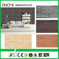 Anti-slip flexible clay light weight lowes interior brick paneling