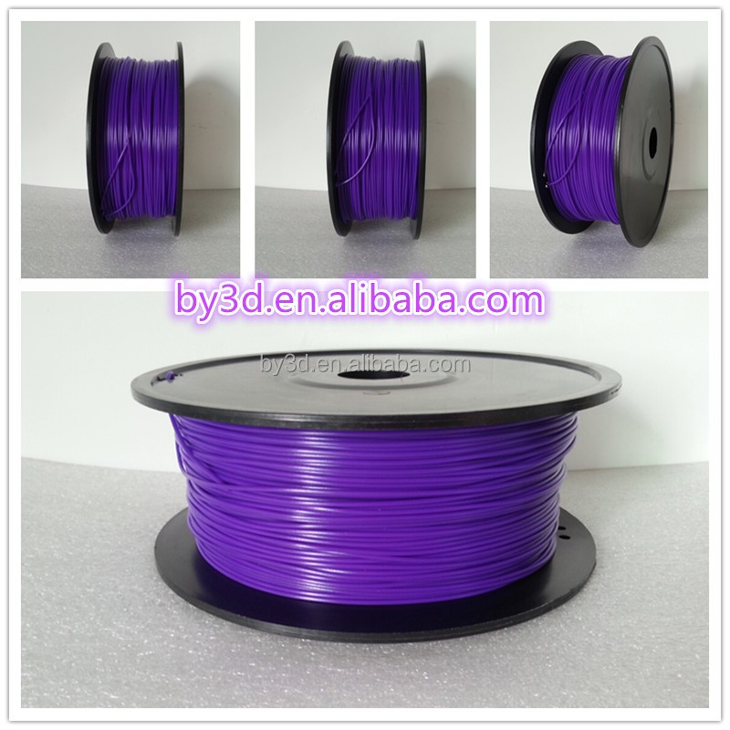 Violet Color ABS PLA 3d print filament plastic 1kg/rool 1.75mm 3.0mm for 3D pen and 3D printing