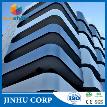 OEM Service High Standred Exterior Aluminum Cladding, alucobond prices, aluminium plastic sheet