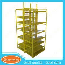 gondola double sided metal stand display shelves racks for shops