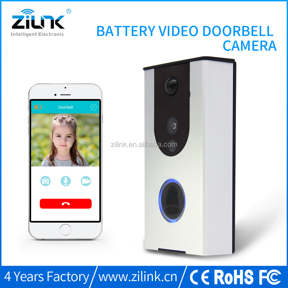 Smart home Battery wifi doorbell No cable support TF card Battery wireless doorbell intercom