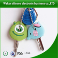 new promotional logo debossed silicone key chain for gifts
