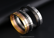Jewelry Wholesale China Best Gift Stainless Steel Bangle Steel/Gold/Rose Gold Plated Engrave Bracelet