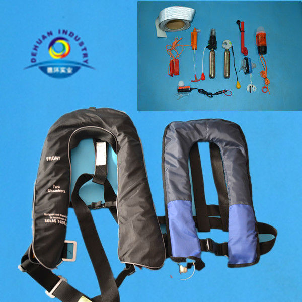 Single/double chamber inflatable life jacket