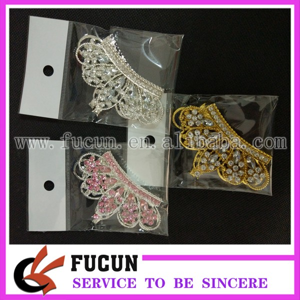 wholesale 48*80cm flatback rhinestone crown embellishment rhinestone brooch