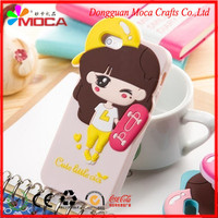 Wholesale different style cartoon girl 3d silicone phone case for promotion