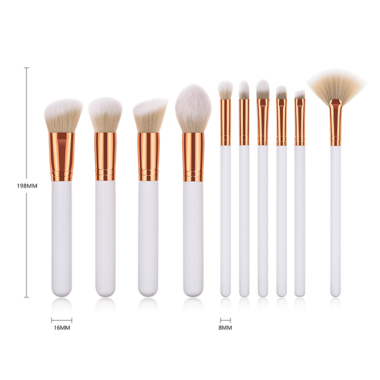 makeup brush set white