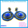 Fashion dubai gold jewelry earring crystal earring pearl earring