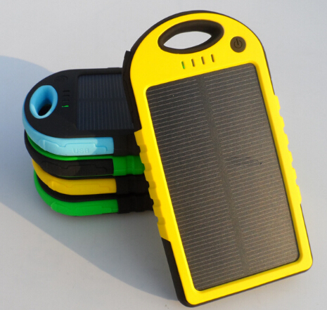 5000mah mobile solar charger solar power charger solar usb charger