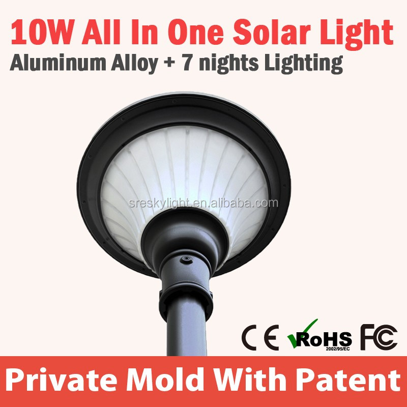 Unique SZ Lead Sun Outdoor LED Solar Street Light All In One fixture