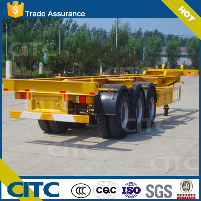 CITC gooseneck type 3 axles 40ft skeleton container semi trailer for sale