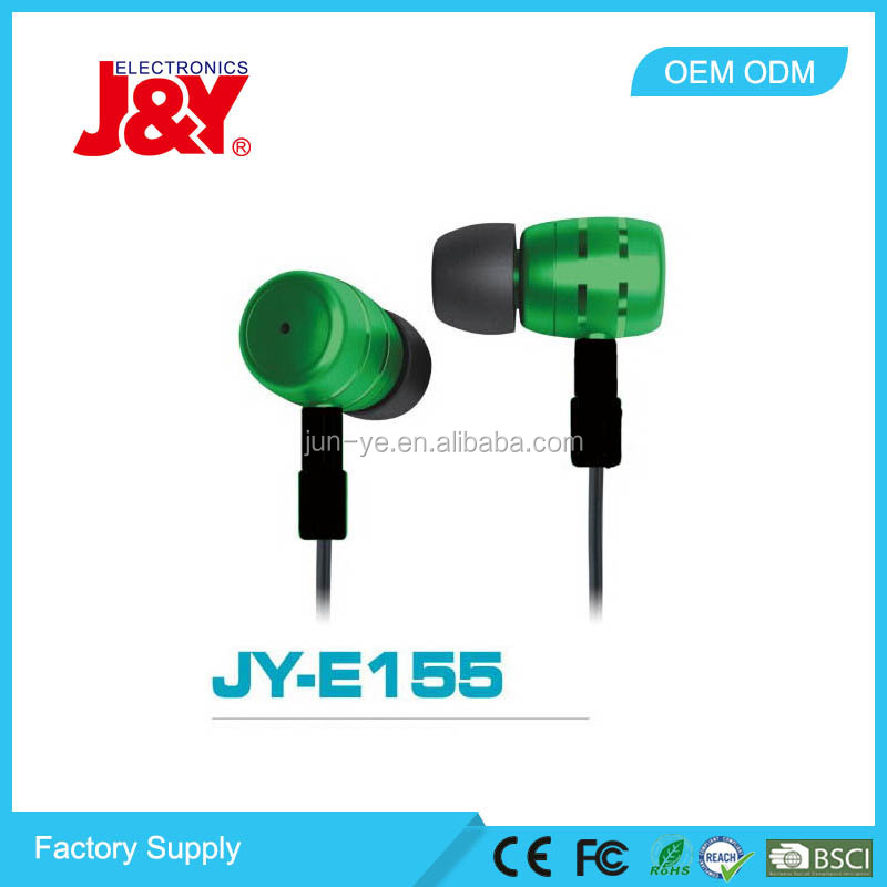 Classcial promotion metal fashion in ear sport colourful earphone