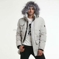 Canada Fashion Duck Down Filled White Winter Parka With Real Fox Fur