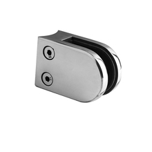 Stainless Steel Cast Q Railing High Polish Glass Door Clamp With Lock
