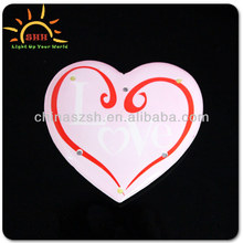 Promotional small gift item heart shaped led name badge