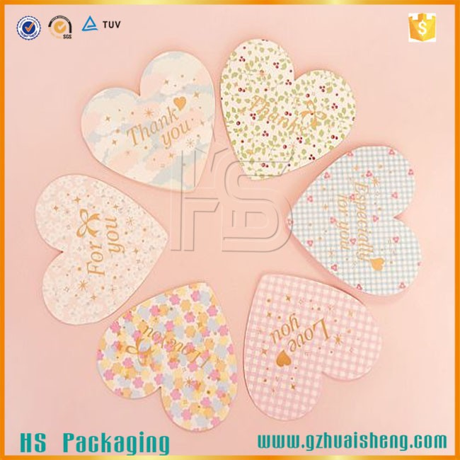 Customized heart shape Thanksgiving Day greeting card for wholesale