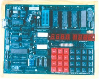 8086/8088 MICROPROCESSOR TRAINING KIT WITH IN-BUILT POWER SUPPLY, EPROM PROGRAMMER & ADC/DAC