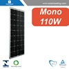 110w mono pv solar modules with stable solar glass for pv grid tie solar system