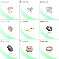 Starland diamond charms Fashon Design Hot Sell Silver Ring Jewelry
