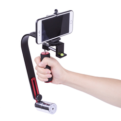 DIGITALFOTO DSLR camera steadicam 5D2 Video Smartphone Mobile Stabilizer steadycam Led Light Microphone for Nikon Canon Iphone
