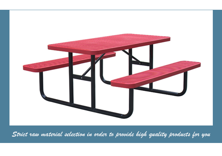 Arlau Outdoor garden restaurant Metal Picnic Table Bench Tablehermoplastic Steel Patio beer Table