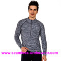 Men's Fitness Seamless T Shirts, Running Seamless Shirts for Men, Half Zipper Gym Seamless T-shirts