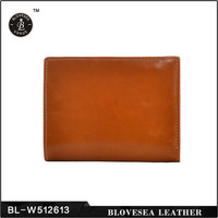 Business Style Genuine Leather Oil Wax Mini Design Short Wallet Women