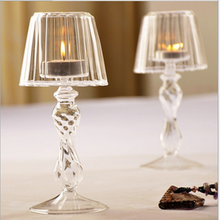 Cheap High quality beautiful 19cm glass lamp glass candle holder -home decoration morern