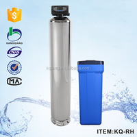 Large flow multiwayvalve water softener for water purification