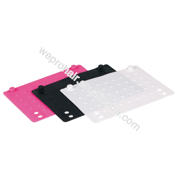 Salon beauty heat resistant silicone mat for hair straightener