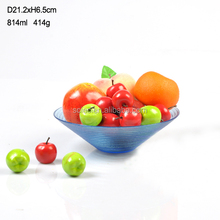 Best selling colored decorative glass sugar candy bowl salad fruit bowl set