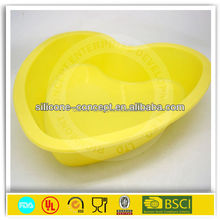 colorful heart shape silicone cupcake