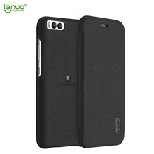 Lenuo soft PU leather flip cover for xiaomi 6 mobile phone case