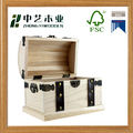 Wholesales handmade rectangular paulownia wooden storage boxes