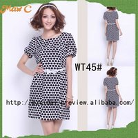 2012 Cheap printed lady dress cotton design WT45#