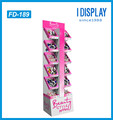 point of sale paper material cosmetic display stand for nail polish