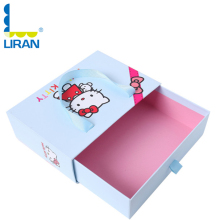 China Slide Drawer Paper boxes Hello Kitty Image Printed Storage Drawer Paper Boxes for Packaging