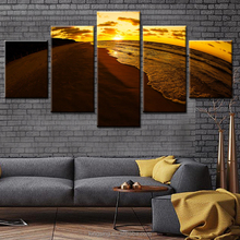 Sunset Beach Scenery the Popular Landscape Printing Canvas No Frame Printing 5 Wall Hanging Paintings