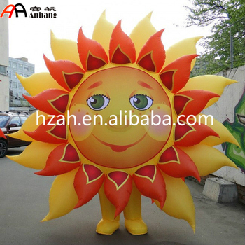 Removable Giant Sun Flower Costume/ Inflatable Flower Costume Decoration