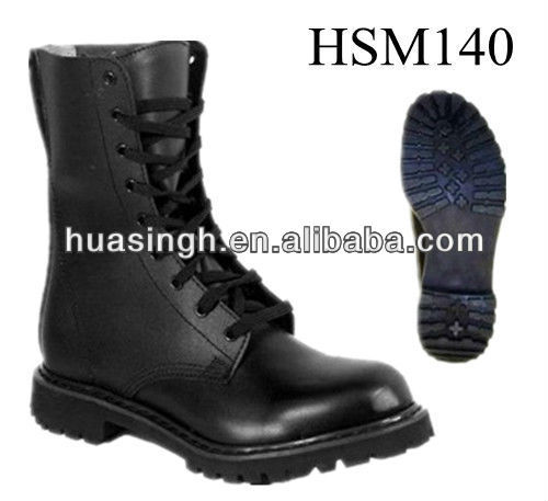 ZY,special military supply 8 inch high genuine leather police army boots