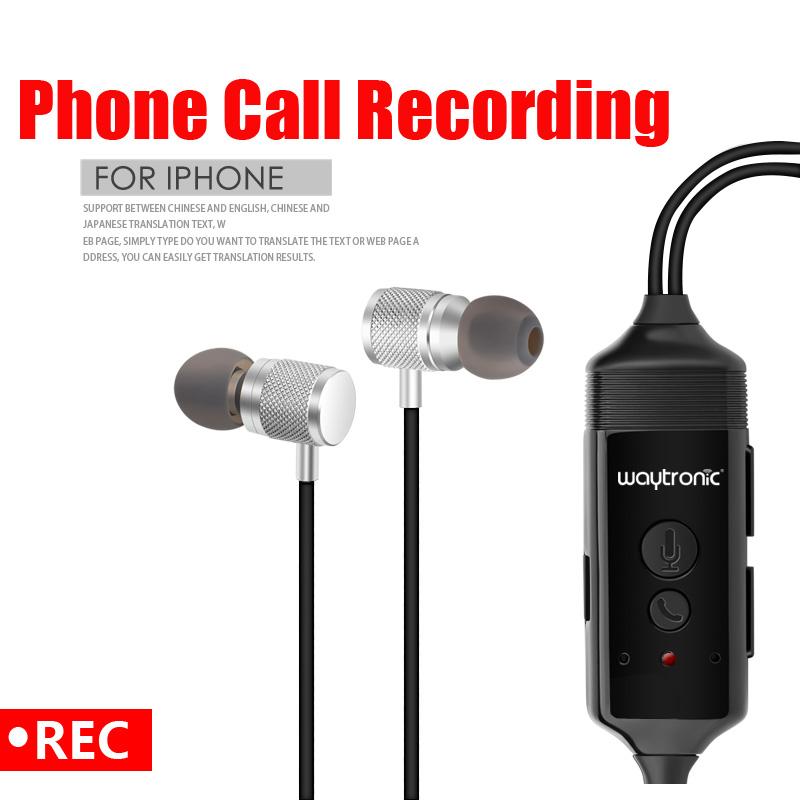 Sans fil bluetooth In-Ear Enregistreur D'appel Casque avec Cellulaires Appel Skype Fonction D'enregistrement pour iPhone Android Téléphone - ANKUX Tech Co., Ltd