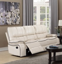 Wholesalers china Modern 3 seater white living room fashion leather recliner sectional sofa